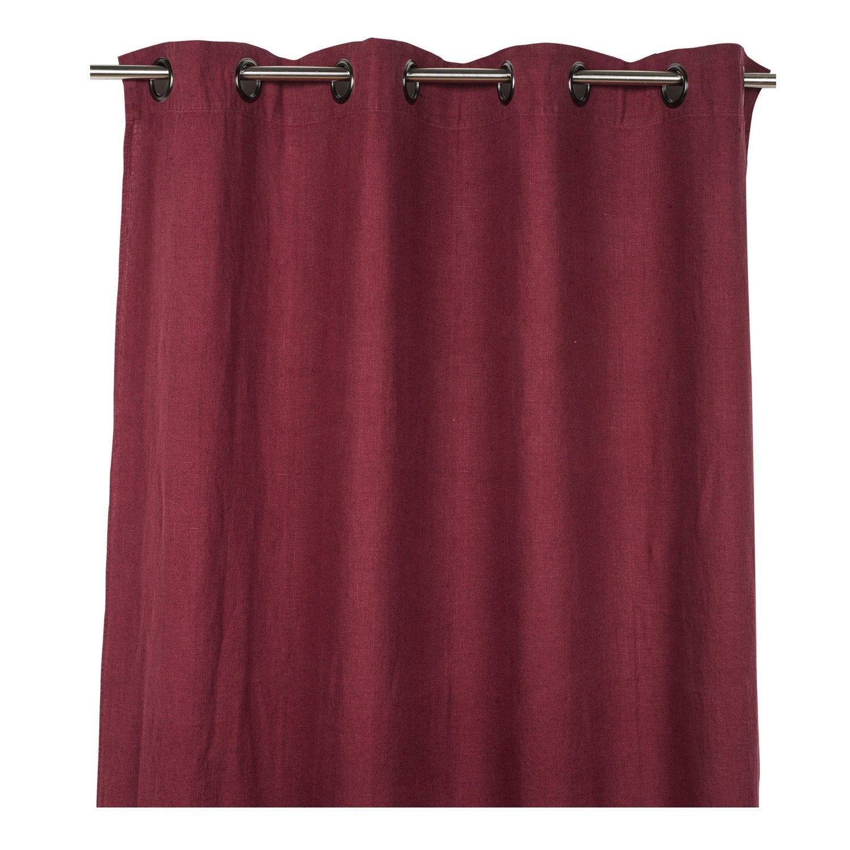 rideau tamisant solenzara lie de vin x cm leroy merlin. Black Bedroom Furniture Sets. Home Design Ideas