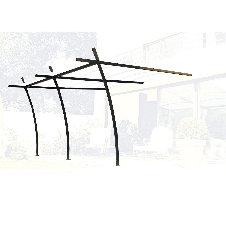 Structure de tonnelle murale sydney acier gris fonc 14 - Tonelle leroy merlin ...