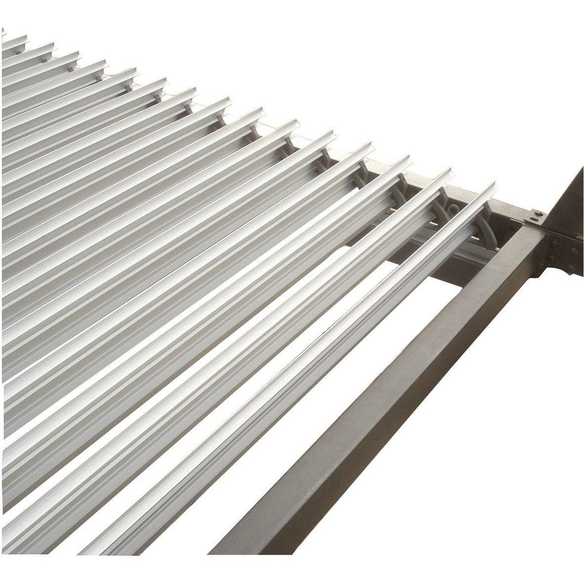 lames aluminium sydney gris x cm leroy merlin. Black Bedroom Furniture Sets. Home Design Ideas