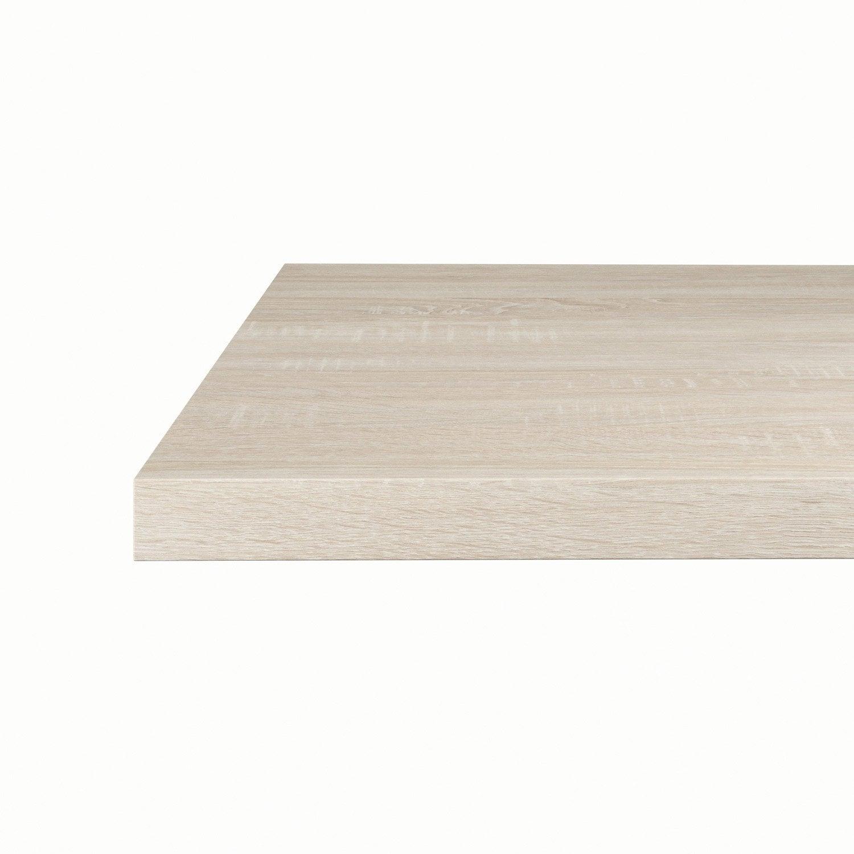 plan snack stratifi effet ch ne sci naturel mat x cm mm leroy merlin. Black Bedroom Furniture Sets. Home Design Ideas