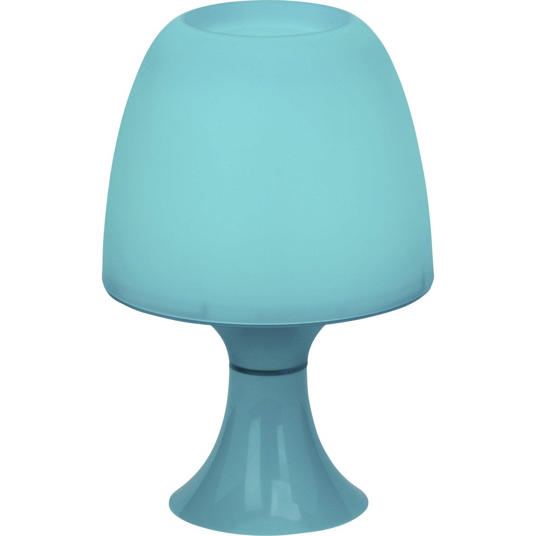 Lampe led int gr e managua plastique bleu 3 w leroy merlin - Lampe led leroy merlin ...