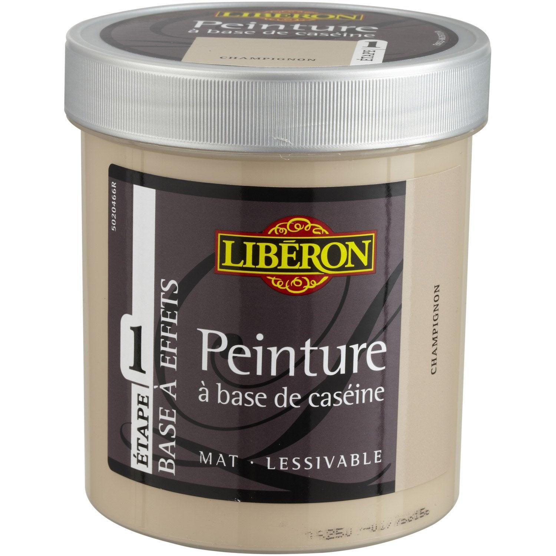 Peinture effet base cas ine mat profond liberon champignon 0 5 l leroy merlin for Peinture meuble bois leroy merlin