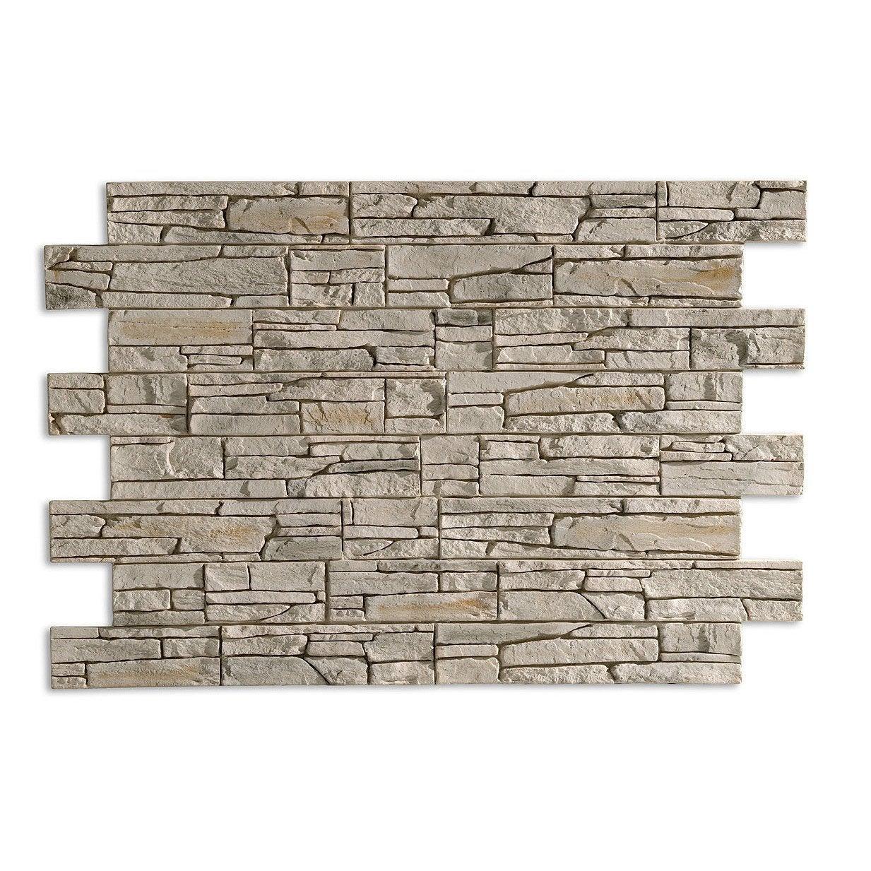 Plaquette de parement panespol pierre composite en polyur thane blanc nuanc leroy merlin - Bassins om leroy merlin te zetten ...
