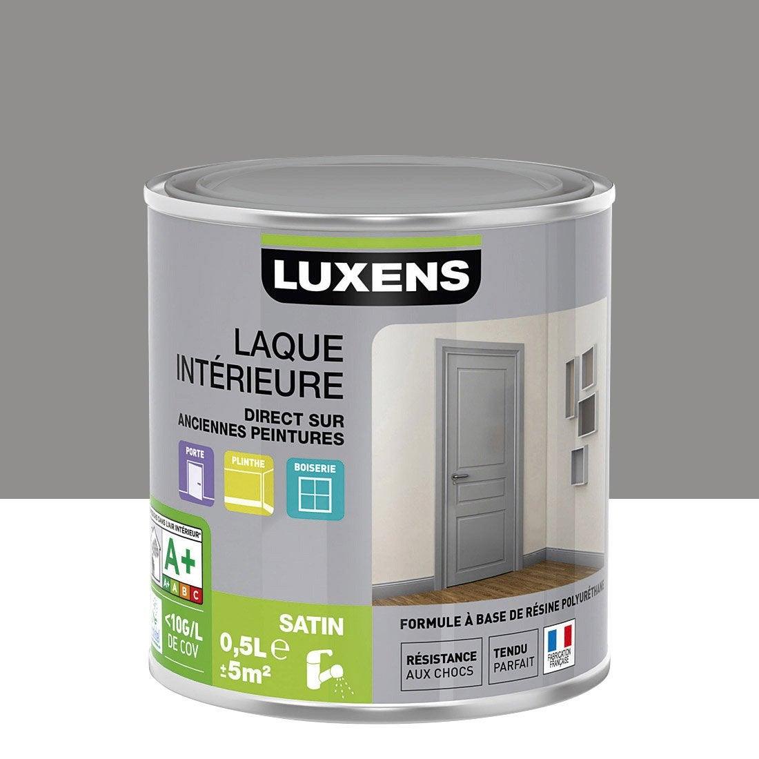 Peinture gris galet 3 luxens laque satin 0 5 l leroy merlin - Peinture leroy merlin luxens ...