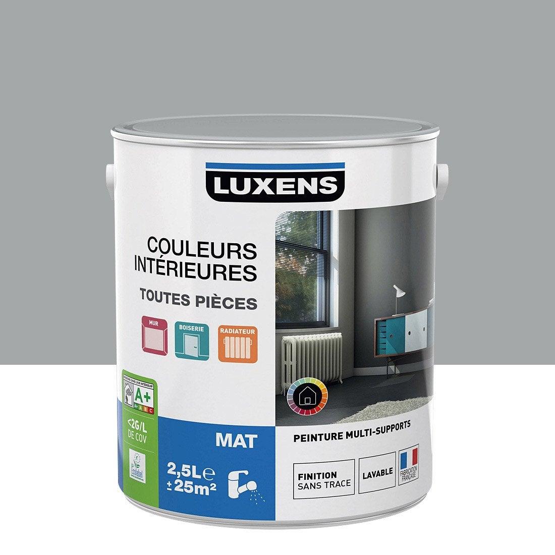 Peinture gris galet 4 luxens couleurs int rieures mat 2 5 - Peinture leroy merlin luxens ...