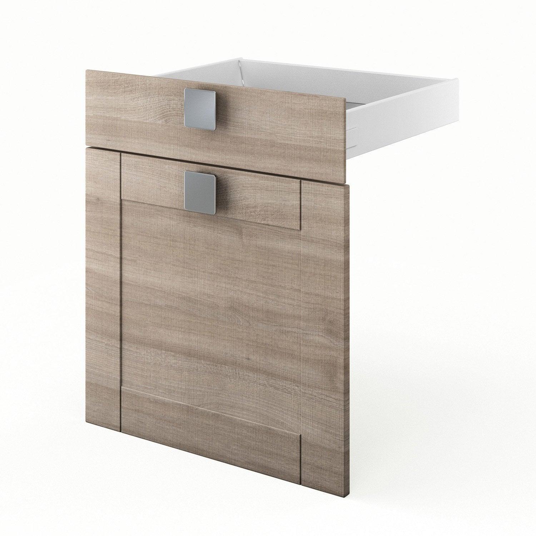 Porte et tiroir de cuisine d cor ch ne blanchi karrey l for Porte 60 x 120
