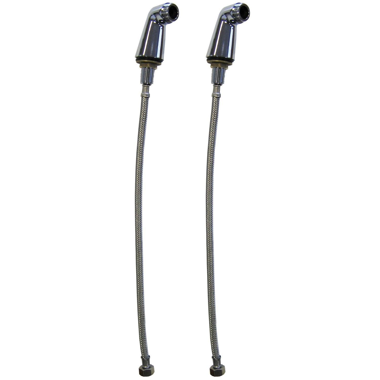 Lot de 2colonnettes 2 flexibles sertis 15 x 21 20 x 27 mm comptoir de picar - Flexible de baignoire ...