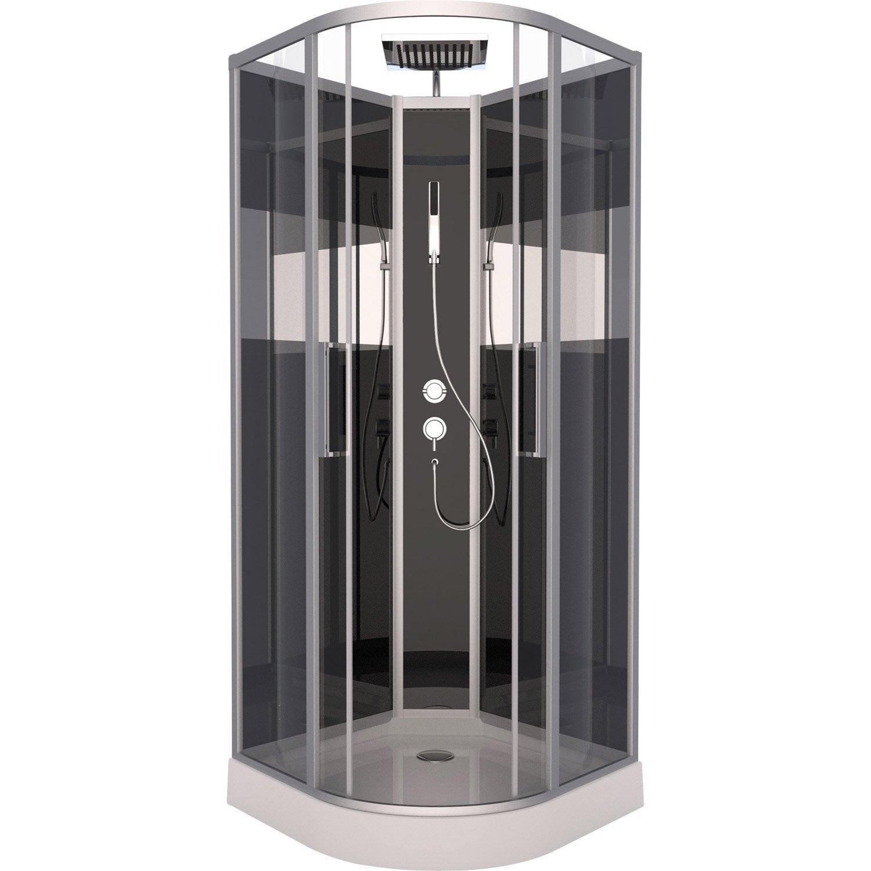 cabine de douche peppermint simple mitigeur 1 4 de cercle 85x85 cm leroy merlin. Black Bedroom Furniture Sets. Home Design Ideas