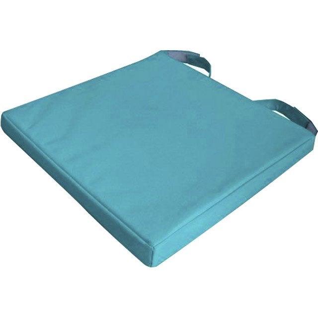 galette de chaise mona bleu 40 x 40 cm leroy merlin. Black Bedroom Furniture Sets. Home Design Ideas