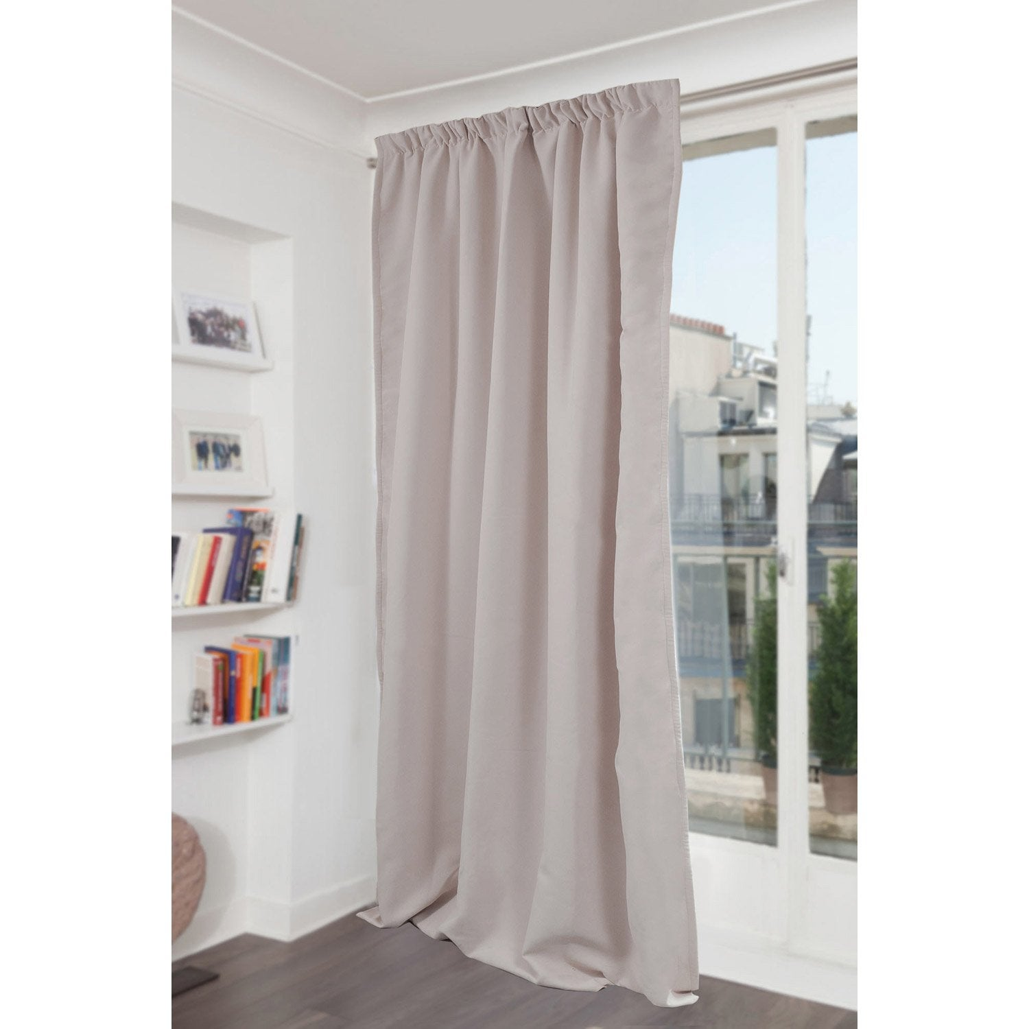 rideau occultant phonique phonique gris clair l 145 x h 260 cm leroy merlin