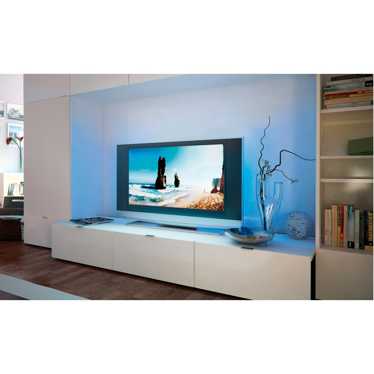 Ruban LED TV 2 x 0 5m multicolore 3000K PAULMANN