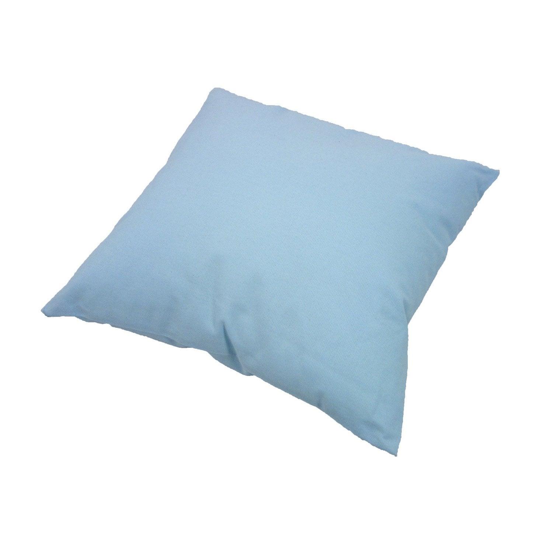 Coussin sunny inspire bleu glacier x cm leroy merlin - Coussin leroy merlin ...