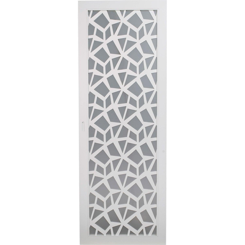 Porte coulissante plaqu blanc crash artens 204 x 83 cm - Leroy merlin porte vitree ...