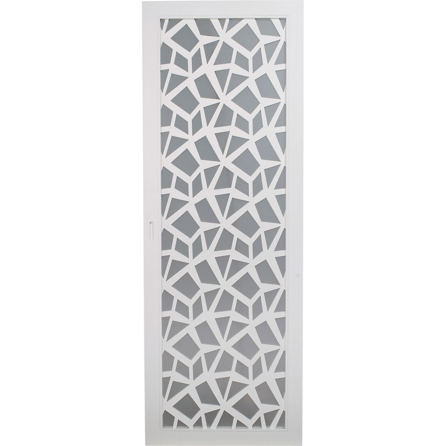 Porte coulissante plaqu blanc crash artens 204 x 73 cm for Porte en verre coulissante leroy merlin