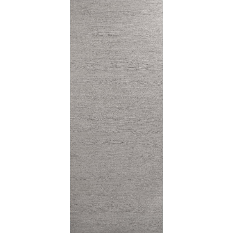 Porte coulissante rev tu d cor ch ne fum londres 204 x 73 cm leroy merlin - Porte chene leroy merlin ...
