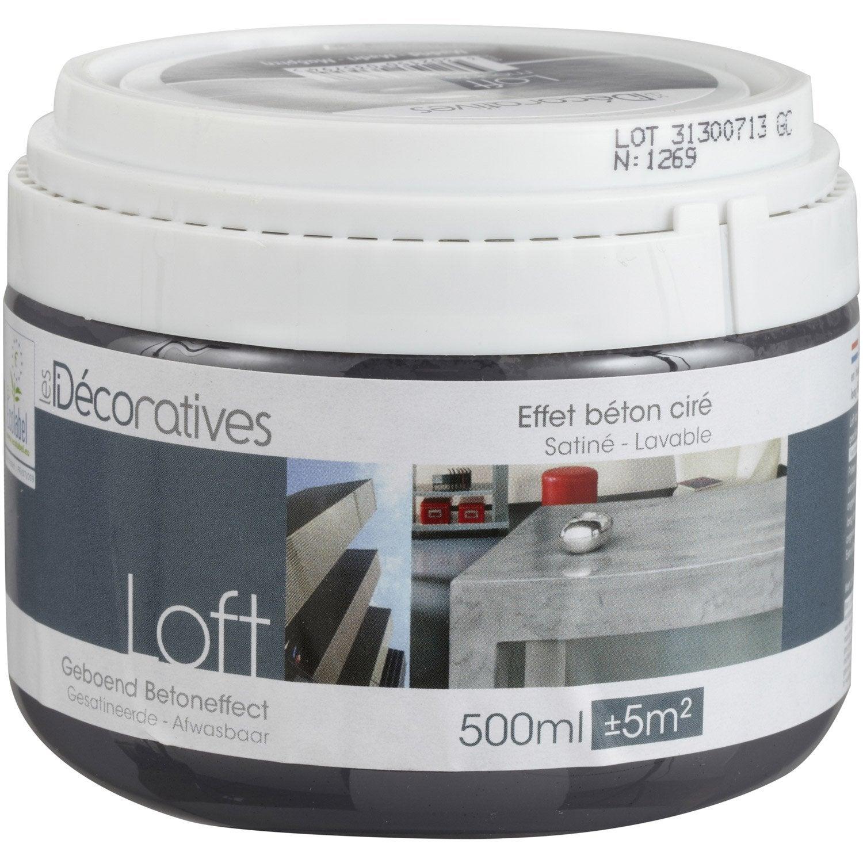 peinture effet loft meuble les decoratives madrid 0 5 l leroy merlin. Black Bedroom Furniture Sets. Home Design Ideas