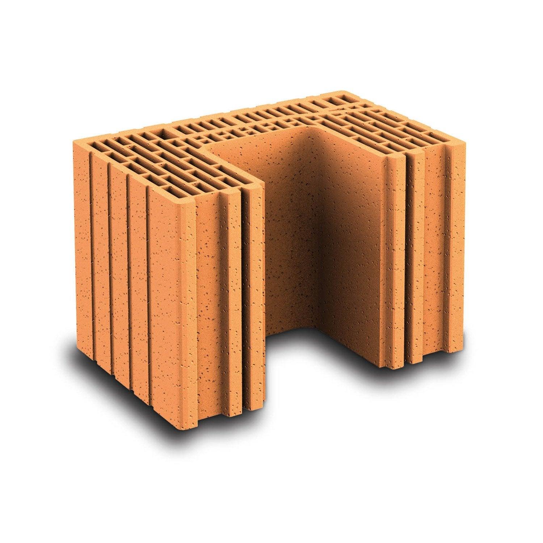 brique poteau wienerberger biomur cm leroy merlin. Black Bedroom Furniture Sets. Home Design Ideas