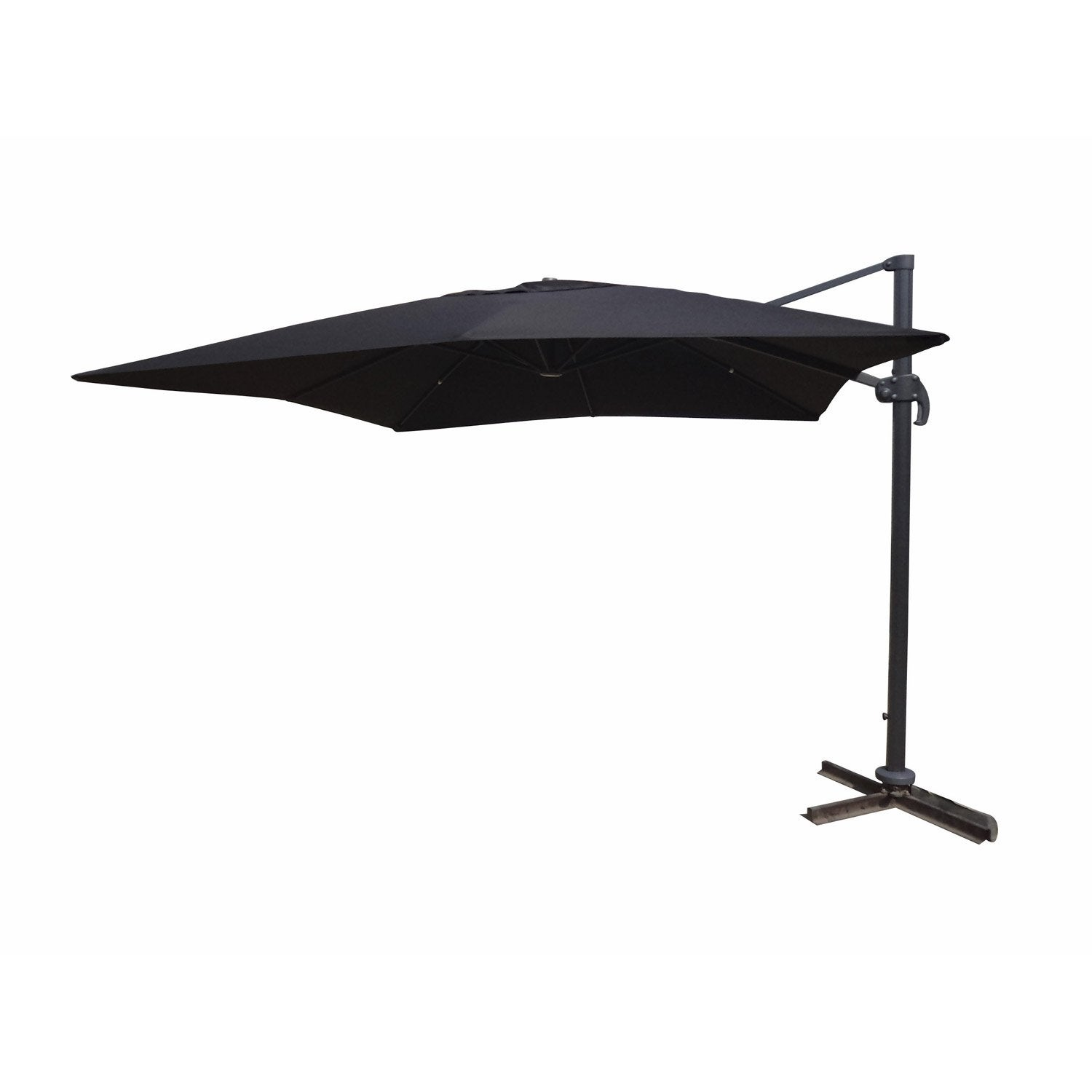 parasol excentr dec fesno 3x4m noir leroy merlin. Black Bedroom Furniture Sets. Home Design Ideas