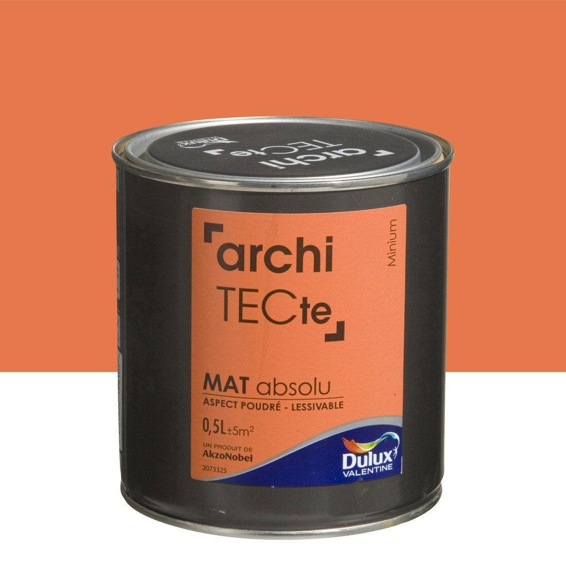 peinture orange minium dulux valentine architecte 0 5 l leroy merlin. Black Bedroom Furniture Sets. Home Design Ideas