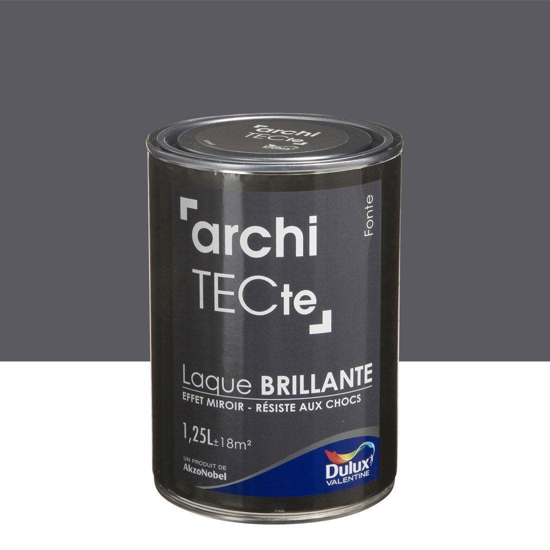 peinture boiserie architecte dulux valentine gris fonte 1 25. Black Bedroom Furniture Sets. Home Design Ideas