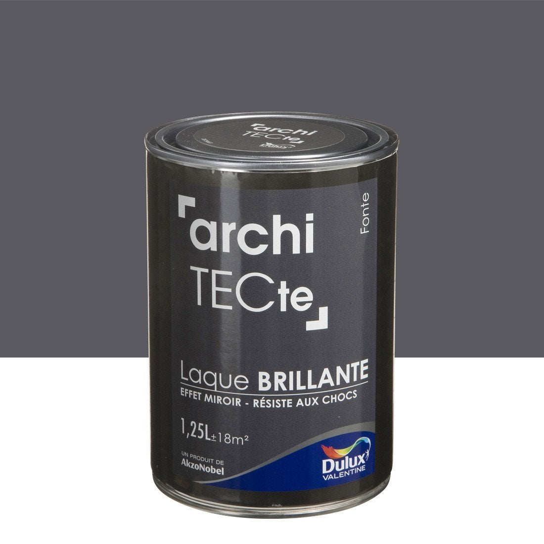 Peinture gris fonte dulux valentine architecte l for Peinture gris perle leroy merlin