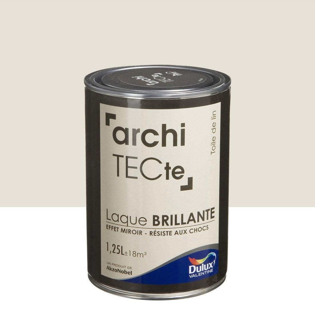 peinture boiserie architecte dulux valentine beige toile de lin 1 25. Black Bedroom Furniture Sets. Home Design Ideas