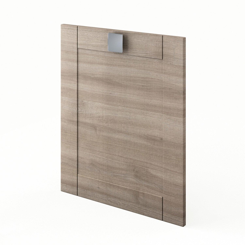 Porte de cuisine d cor ch ne blanchi f60 karrey l60 x h70 for Porte cuisine chene