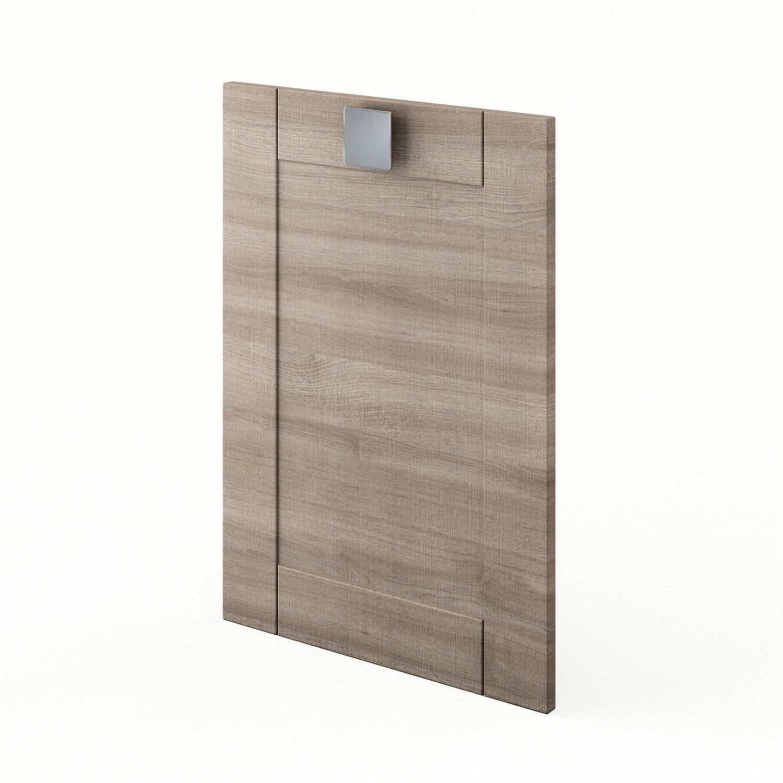 Porte de cuisine d cor ch ne blanchi karrey x for Porte 70 cm de large