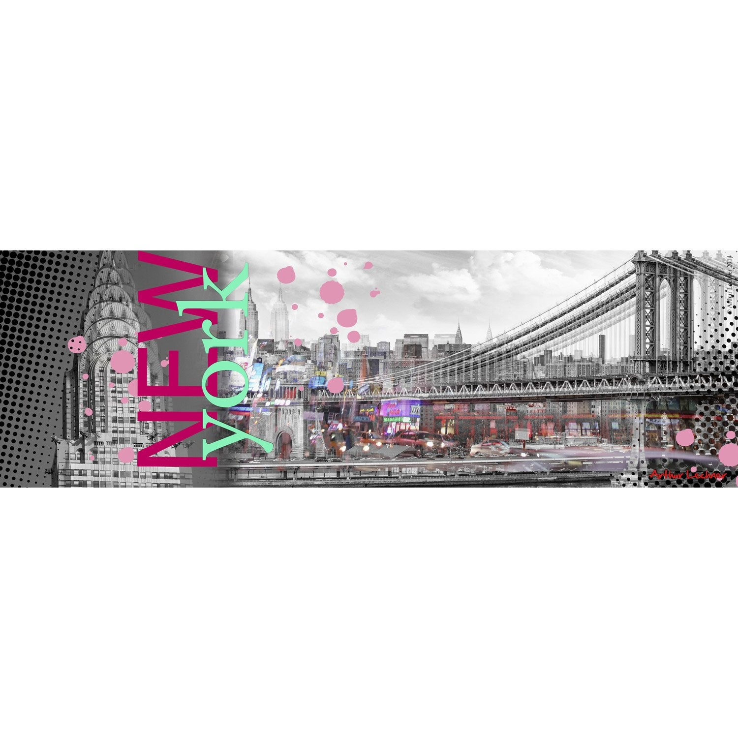 Toile lumineuse led hollywood 30x90 cm pictures to pin - Tableau led new york leroy merlin ...