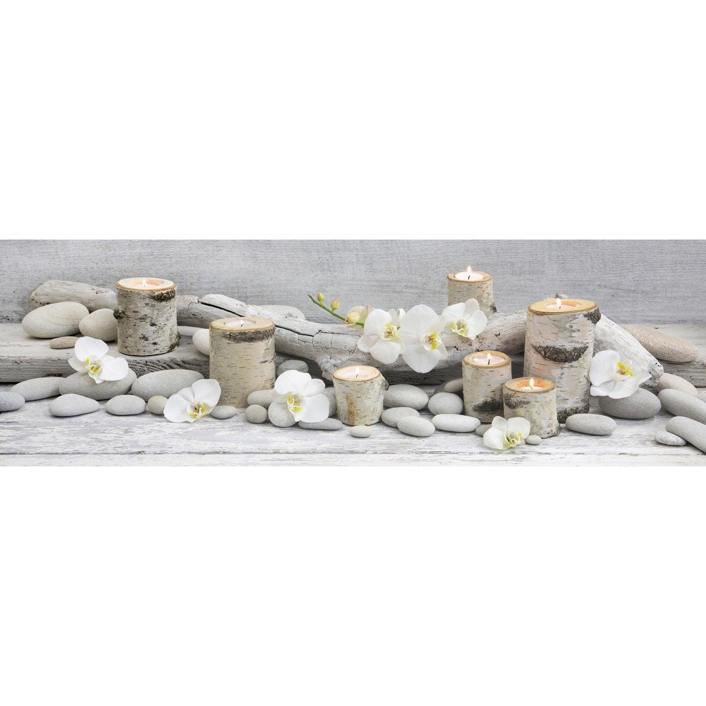 toile led bouleaux et bougies 140x45 cm leroy merlin. Black Bedroom Furniture Sets. Home Design Ideas