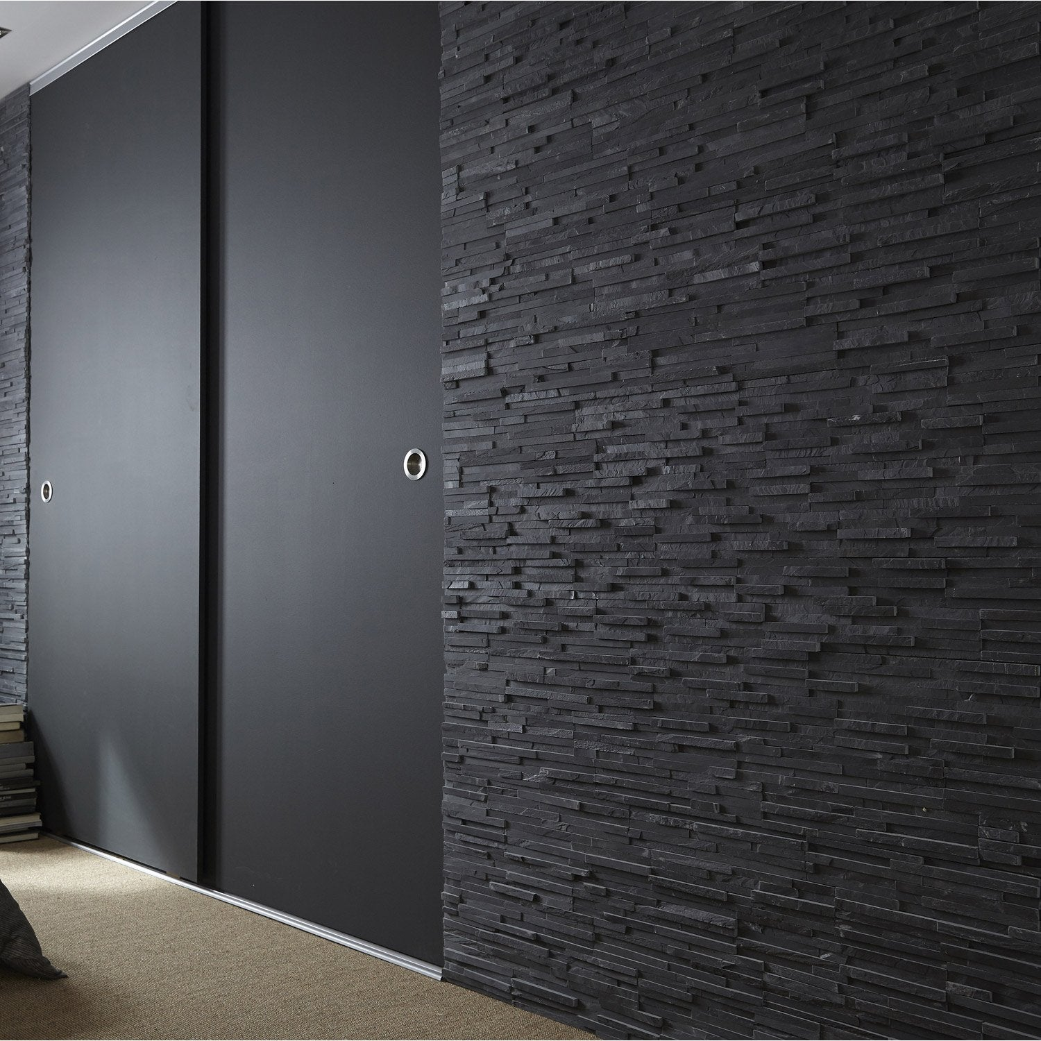 parement pierre leroy merlin papier peint new york murs. Black Bedroom Furniture Sets. Home Design Ideas