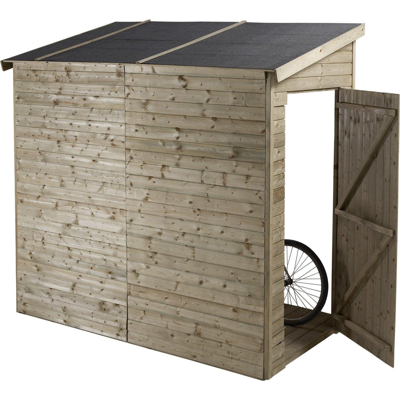 abri v lo bois naturelle x x cm leroy merlin. Black Bedroom Furniture Sets. Home Design Ideas