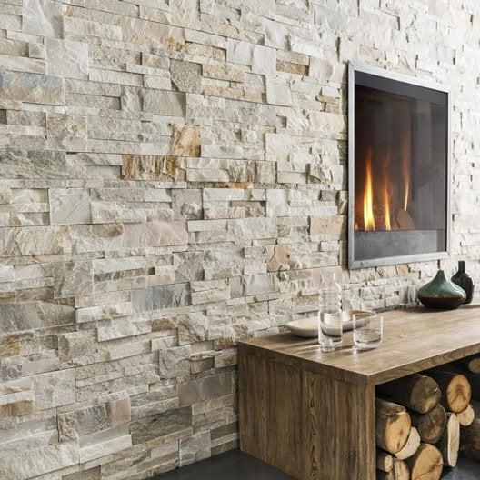 Plaquette de parement pierre naturelle gris beige cottage for Moule a pierre plaquette de parement