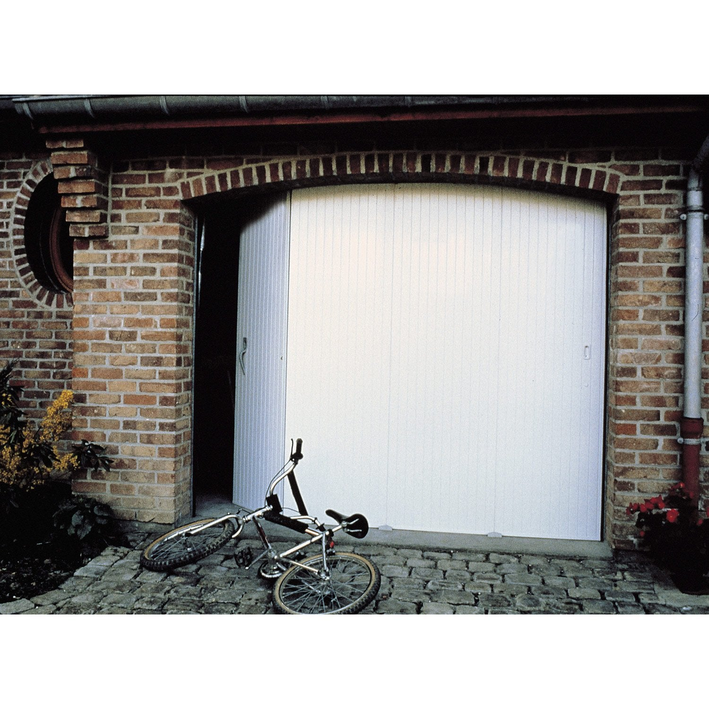 Porte de garage coulissante manuelle PRIMO H.200 x l.240 cm | Leroy Merlin