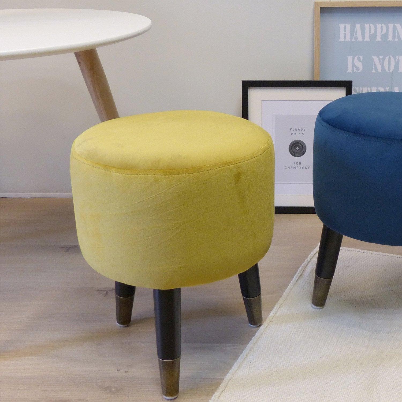 pouf marine x cm leroy merlin. Black Bedroom Furniture Sets. Home Design Ideas