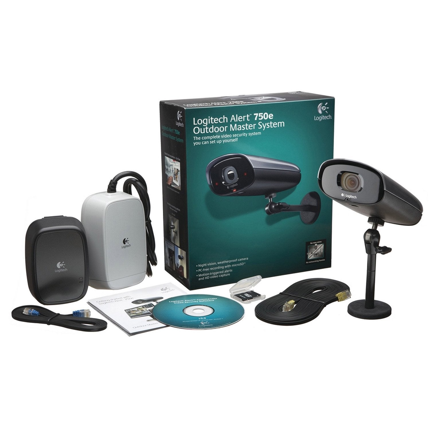 kit de vid osurveillance filaire logitech 961 000341 leroy merlin. Black Bedroom Furniture Sets. Home Design Ideas