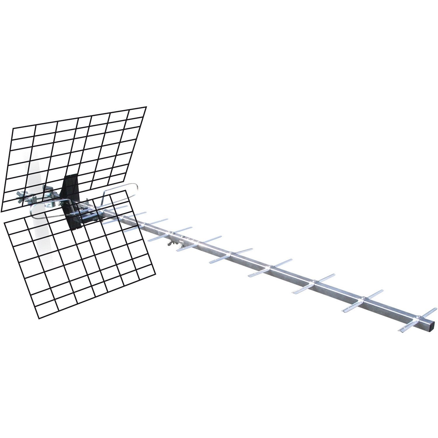 Antenne tv ext rieure tnt hd metronic 20 db leroy merlin for Orientation antenne tnt exterieur
