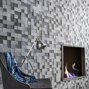 Plaquette de parement pierre naturelle gris clair / gris foncé Creativa