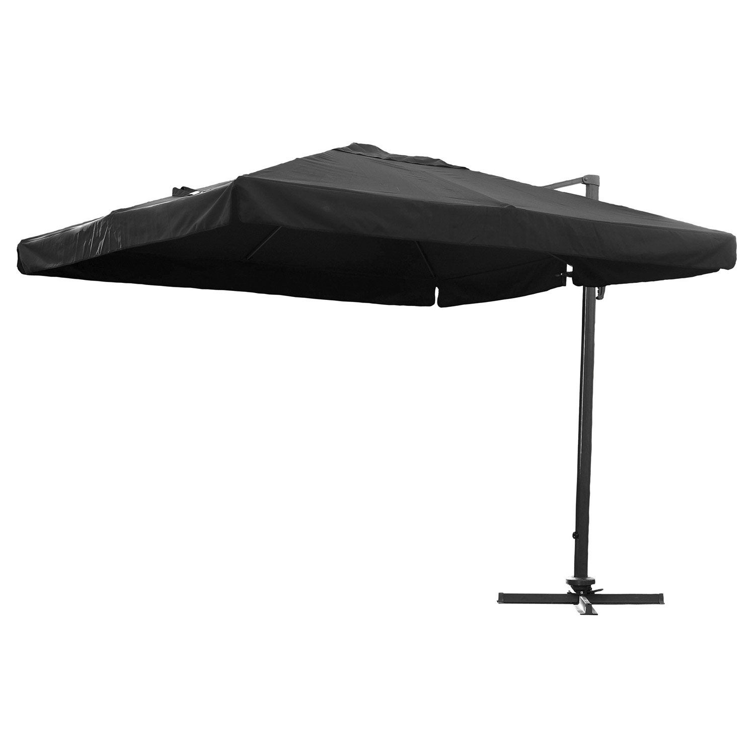 parasol excentr dcb garden noir 9 m leroy merlin. Black Bedroom Furniture Sets. Home Design Ideas