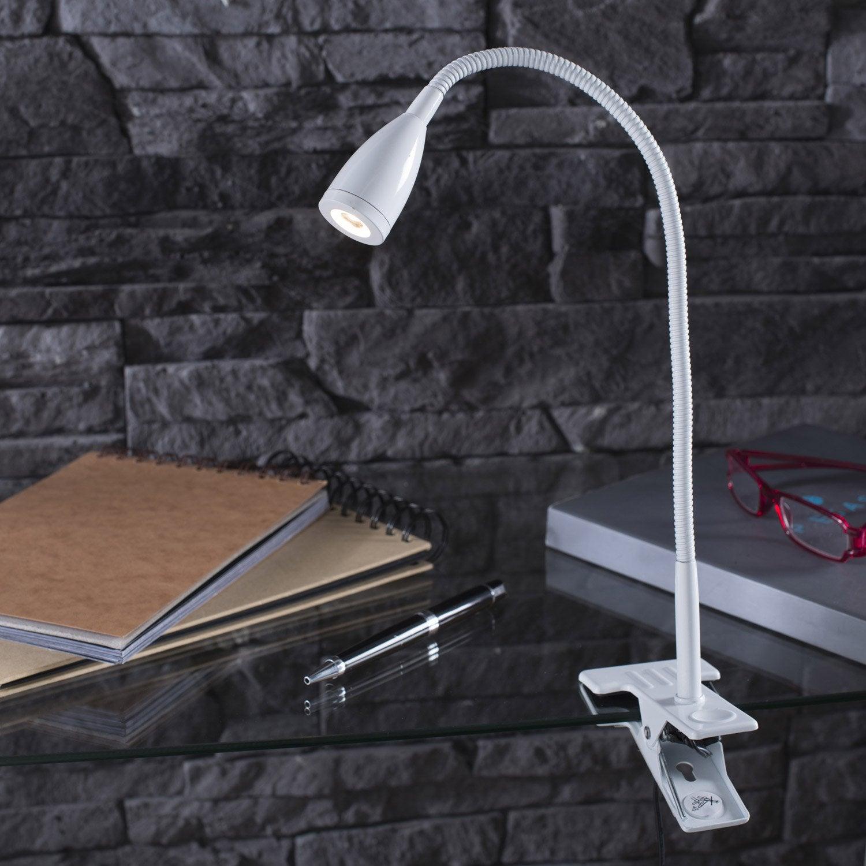 lampe de bureau led int gr e pince blanc led gao inspire leroy merlin. Black Bedroom Furniture Sets. Home Design Ideas