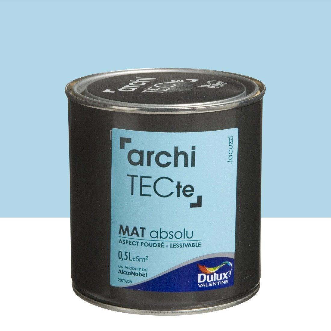 peinture bleu jacuzzi dulux valentine architecte 0 5 l leroy merlin. Black Bedroom Furniture Sets. Home Design Ideas