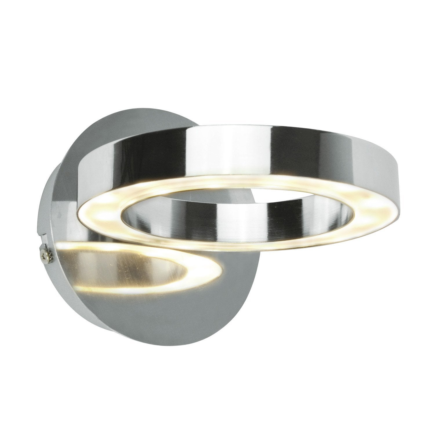 Applique circey led 1 x 4 w led int gr e blanc chaud for Leroy merlin applique