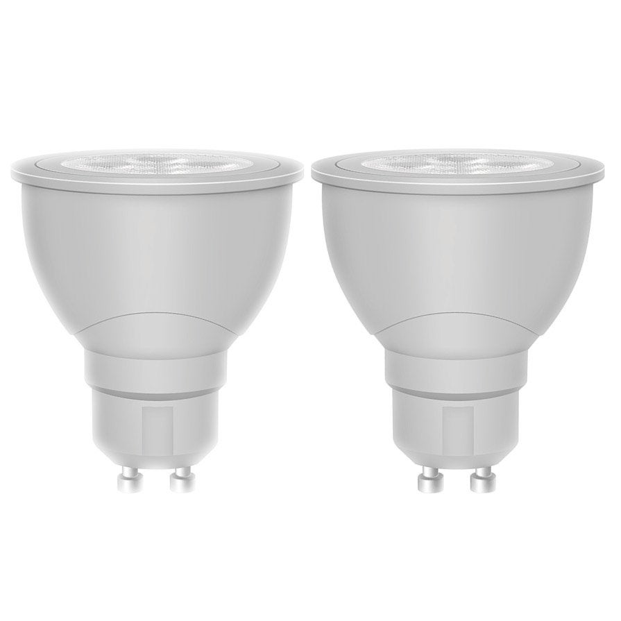 2 r flecteurs led 5w osram gu10 lumi re douce env 4000k for Ampoule 12v 20w leroy merlin