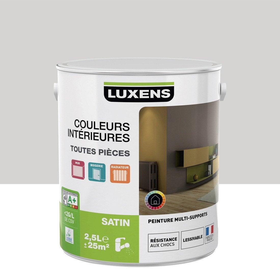 Peinture gris galet 6 luxens couleurs int rieures satin 2 - Couleur gris galet ...