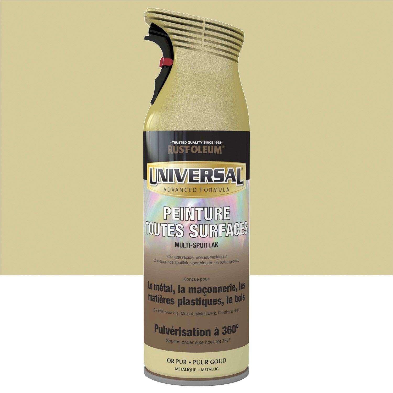 A rosol pour tous mat riaux rustoleum or pur 0 4l - Leroy merlin materiaux ...