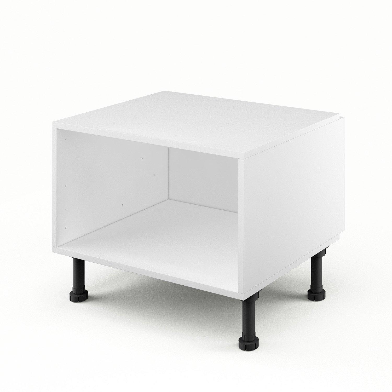caisson de cuisine bas dsh60 delinia blanc l60 x h35 x. Black Bedroom Furniture Sets. Home Design Ideas