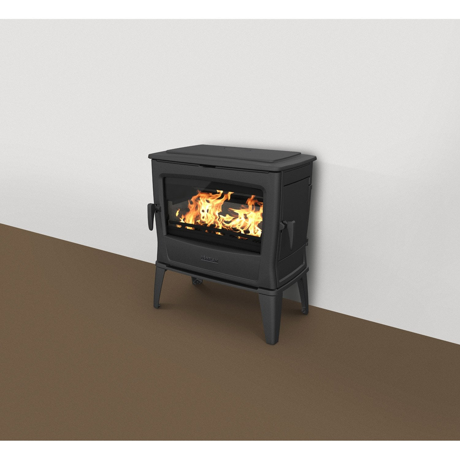 po le bois norflam by dovre forte noir 11 kw leroy merlin. Black Bedroom Furniture Sets. Home Design Ideas