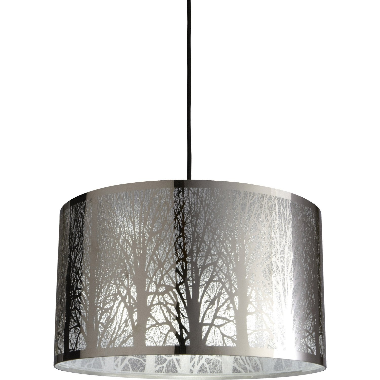 Suspension moderne forest m tal noir 1 x 60 w inspire leroy merlin - Lustre suspension new york ...