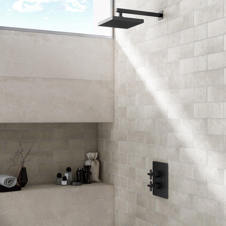 Carrelage sol et mur gris cendr harlem l 8 5 x cm - Carrelage leroy merlin gris ...