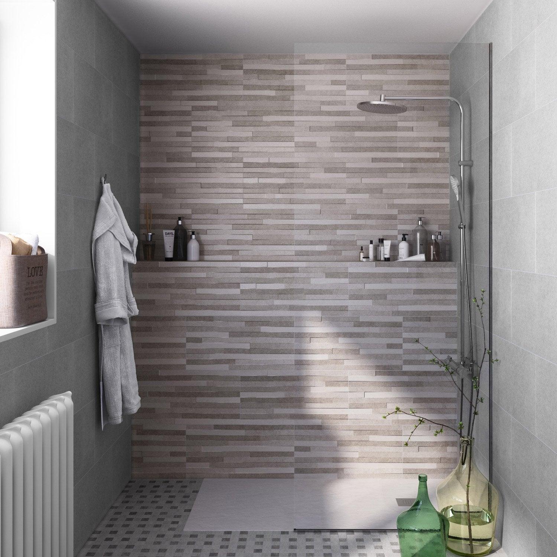 fa ence mur gris pierre x cm leroy merlin. Black Bedroom Furniture Sets. Home Design Ideas